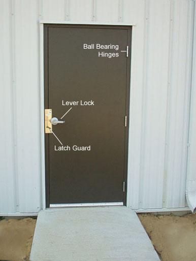 Preassembled steel walk doors man doors and entry doors for Commercial exterior steel doors